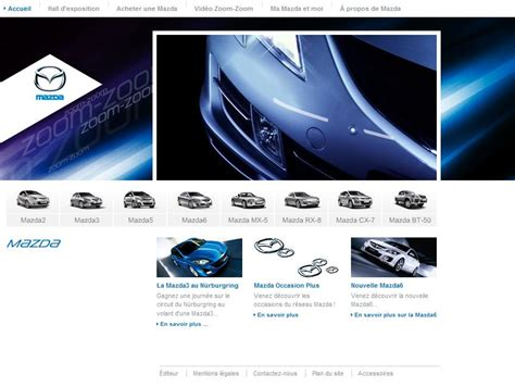 mazda site officiel marques et distributeurs étude comparative des sites