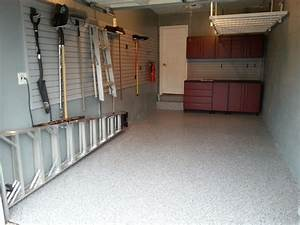 small and narrow garage remodel design with concrete With small garage interior ideas