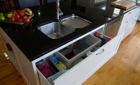 kitchen sink storage  organization home makeover