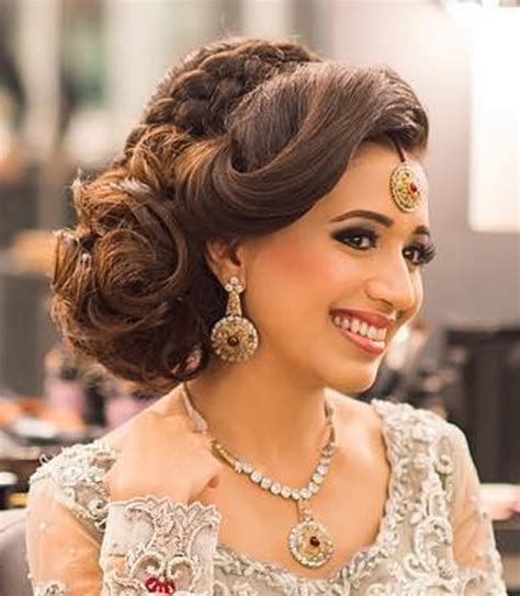 indian bridal hairstyles perfect   wedding