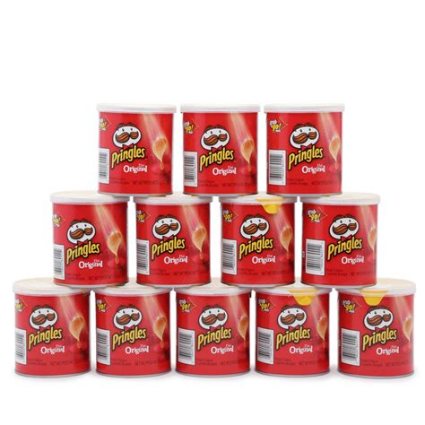 pringles mini cans  count original hollar