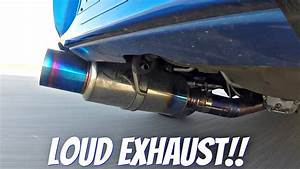 Subaru Impreza Sti With Tomei Ti Titanium Exhaust Loud