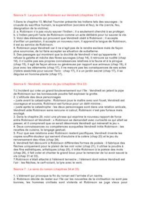 Questionnaire De Lecture Vendredi Ou La Vie Sauvage by Vendredi Ou La Vie Sauvage R 233 Sum 233 Des Chapitres 13 224 33