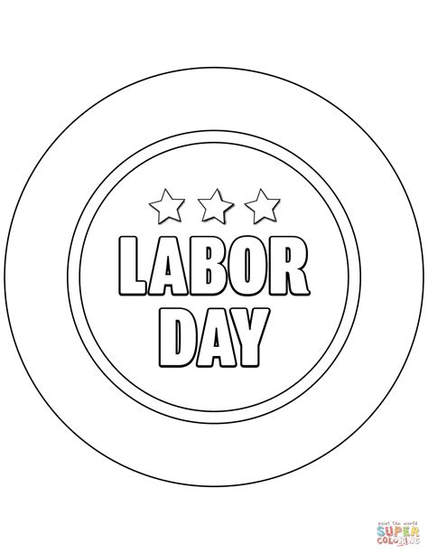 Labor Day Poster Coloring Page Free Printable Coloring Pages