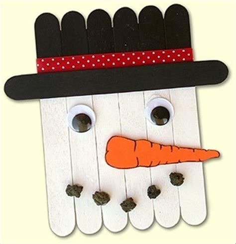 christmas crafts popcycle stick snowman dump a day