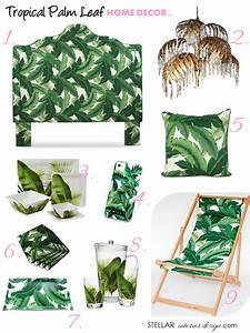 Tropical Palm Leaf Decor