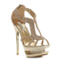 Gold Prom Shoes Heels