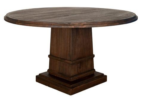 hudson   dining table  column base zin home