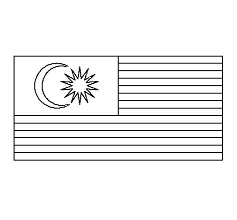 pin jalur gemilang colouring pages  pinterest