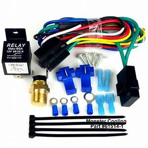 Chevy Truck Electric Radiator Fan Relay Wiring Kit  Works On Single Or Dual Fan