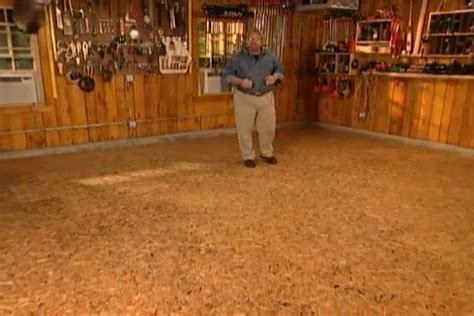 insulate  level  garage floor diy projects