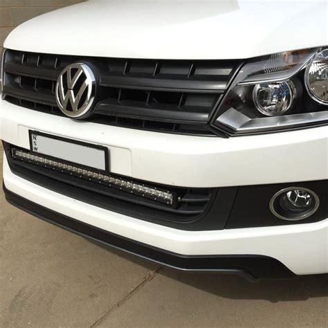 vw amarok grill mounted led light bar bracket