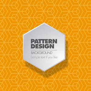 Orange geometric pattern Vector | Free Download