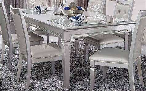 allura dining table    silver  homelegance woptions
