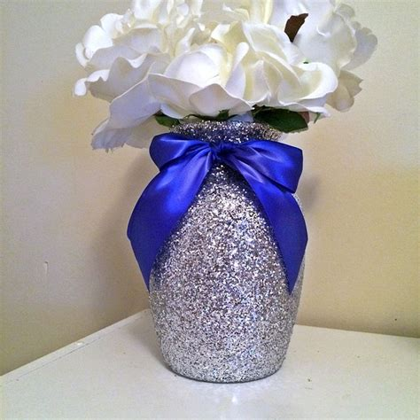 Navy Blue Flower Vases by Navy And Gold Centerpieces Vases Wedding Centerpieces