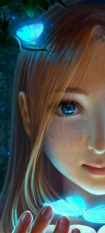 gambar foto lukisan  animasi model wanita eddi