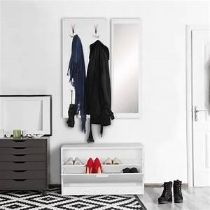 Garderobe 80 Cm Breit : wand garderobe jan mit garderobenpaneel spiegel schuhkipper 80 cm breit 27 cm schmal ~ Bigdaddyawards.com Haus und Dekorationen