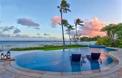 Pool Maui Sunset Swimming Hawaii Pools Wallpapers