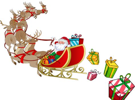 Santa Sleigh Clipart Santa Sleigh Clipart Clipart Suggest