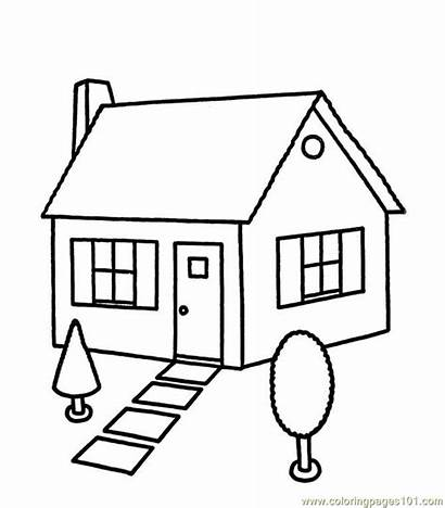 Coloring Pages Houses Coloringpages101 Pdf