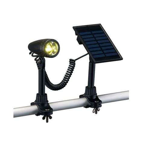 hton bay outdoor black solar 3 led flag light 79132