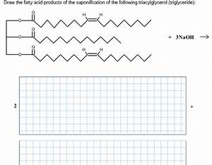 Solved  Draw The Fatty Acid Products Of The Saponification