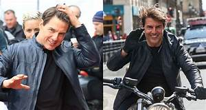 Tom Cruise Fixes His Hair After Filming 'Mission ...