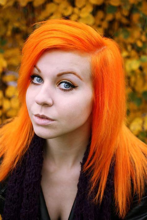 Bright Orange Hair Hair Pinterest