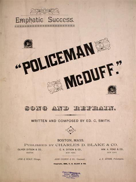 emphatic success policeman mcduff song