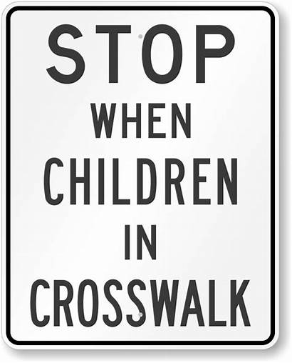 Speed Limit Stop Children Crosswalk Signs Flashing
