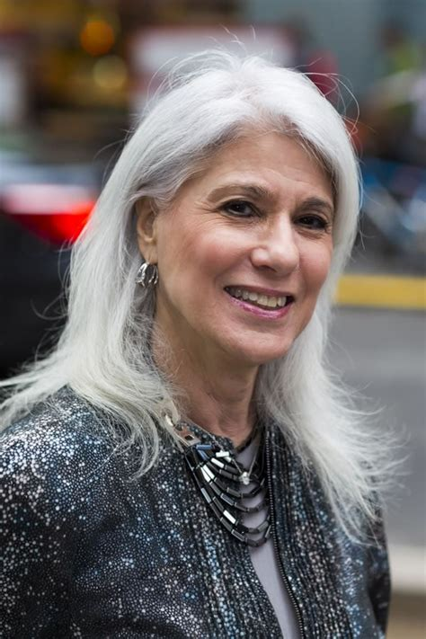 Celebrating women over 40 with long grey hair