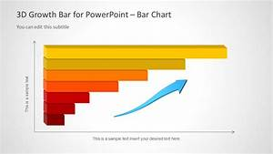 3d Growth Bar Chart For Powerpoint