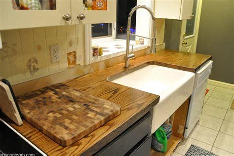 sink at the door artisan des arts diy wood door butcher block countertops