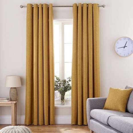 mustard yellow curtains vermont mustard eyelet curtains dunelm