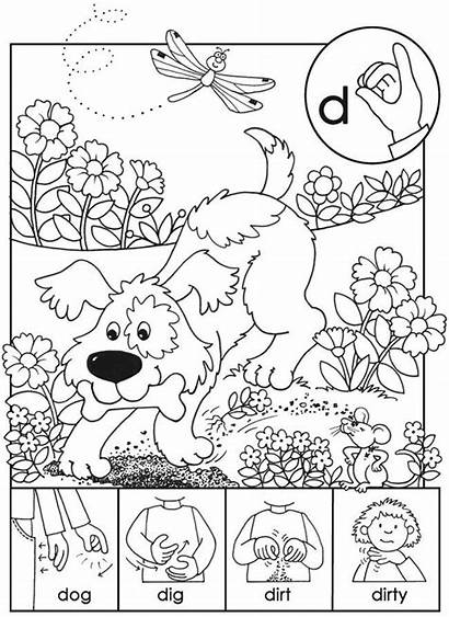 Language Sign Coloring American Pages Beginner Abc