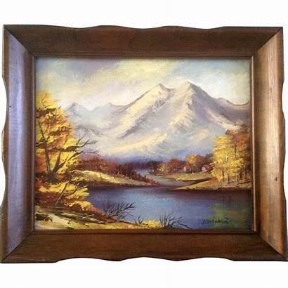 Landscape Oil Wagner Van Mountain Dot Painting