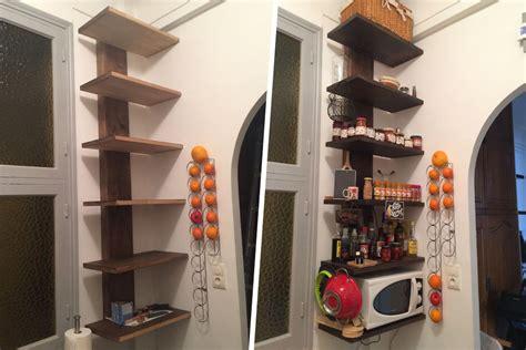 cuisine avec etagere fabrication d 39 étagère en bois pour cuisine avec
