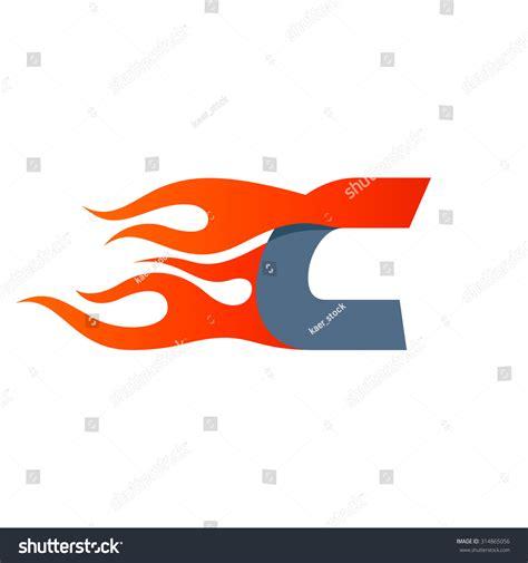 letter logo design template fast stock vector