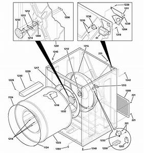 Cabinet  U0026 Drum Diagram  U0026 Parts List For Model Nvl333eb4ww
