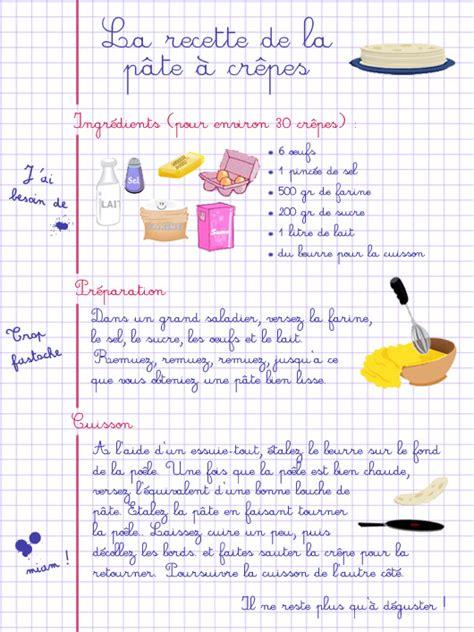 recette de cuisine en anglais activités cuisine crêpes et punch coin recette