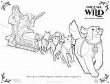 Coloring Dog Wild Call Printable Sled Activity Sheets Colorear Pdf Hojas Imprimibles Hoja Disney sketch template