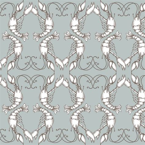 lobster wallpaper grey wallpaper buy wallpaper direct