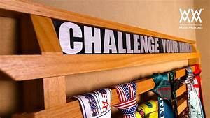 Running Medals Display Rack Woodworking Project - YouTube