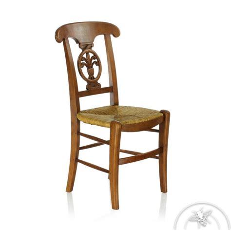 chaises paillées chaise ancienne bois et paille palmette saulaie