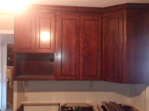 hand  cherry kitchen  beaded shaker raised panel