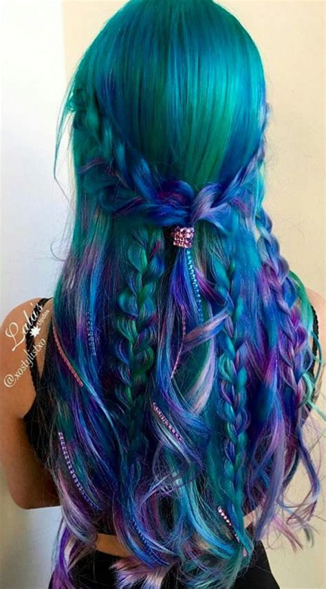 873 Best Images About Mermaid Ombre Blue Green Purple Hair