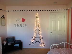 lit eiffel tower for my daughter39s paris themed room With eiffel tower decor for bedroom