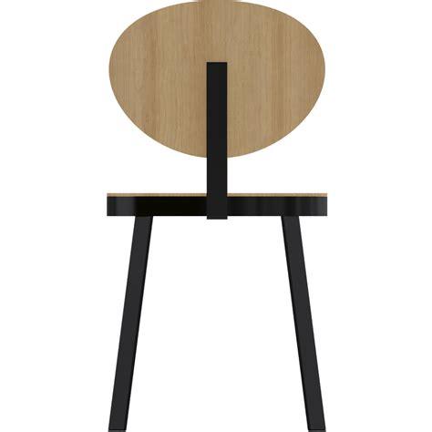 chaise design metal noir objeto bim y cad chaise ds no6 acier noir et chene