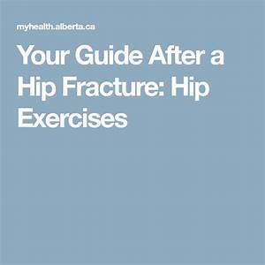 Your Guide After A Hip Fracture  Hip Exercises