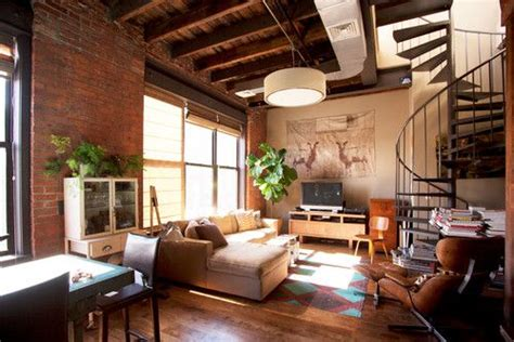 Loft Wohnen by Loft Living Room With Floor Cloth Neutral Palette Spiral